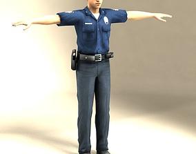 policeman Police Officer 3D Model