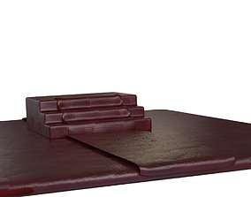 3D Throne red carpet steps