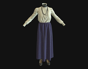 Dress blouse 3D asset realtime