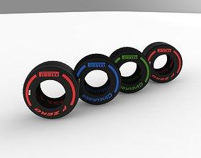 F1 2019 Pirelli Tyres 3D model low-poly