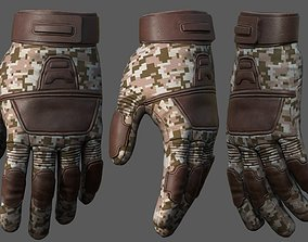 3D asset Gloves protection camouflage scifi fantasy