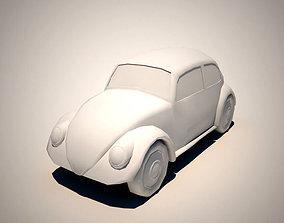 3D asset Volkswagen Beetle