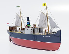 3D model Cargo ship Kanal