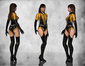 Silk Spectre 3D asset rigged