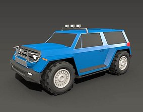 Lowpoly SUV concept 3D model