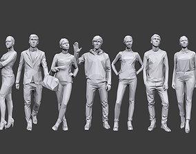 3D model Lowpoly People Casual Pack Volume 11