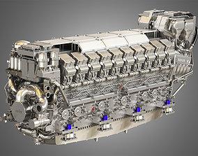 V20 8000 Engine - Marine Diesel Engine 3D model