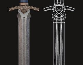 Dagger antique 3D model VR / AR ready