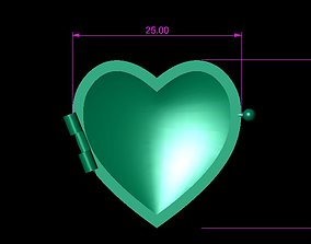 3D printable model Double Capped Heart Necklace