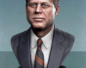 3D print model John Fitzgerald Kennedy