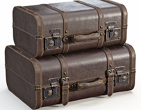 Brown Vintage Suitcases brown 3D model
