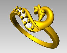 Peacock Ring Ladies 3D print model