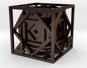 Dice 3D printable model accessory