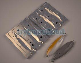 200-250 gr Butterfly Flat Likeness Metal 3D print model 1