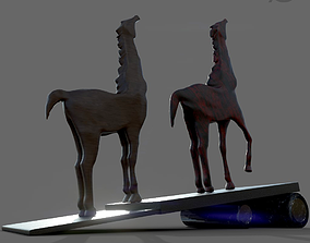 wooden horse 3D printable model