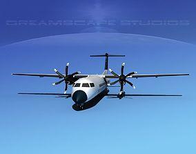 Dehaviland DHC-8 400 Tour America 3D model