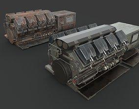 3D Machinery device Diesel-generator