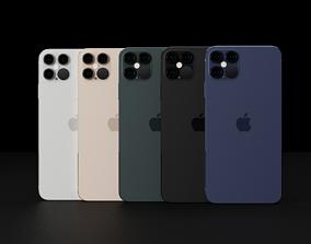3D asset Concept of Apple iPhone 12 Pro Max Thin Bezels 3