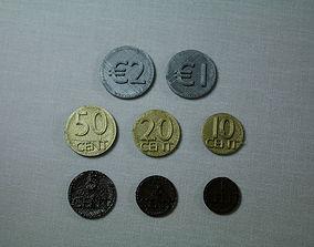 3D print model Set of Euro coins
