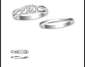 3D printable model Bridal set rings for women jewelers 1
