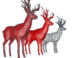 Deer munten 3D model