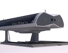 3D model Cableway D-Line Station