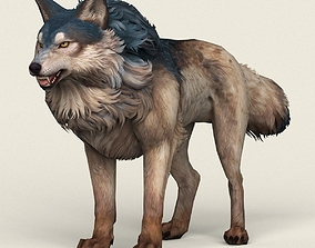 3D model realtime Game Ready Wild Wolf