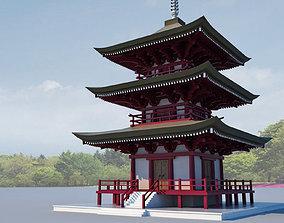 3D buddha Modern temple