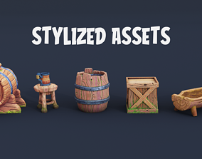 3D model Stylized game assets
