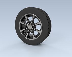 13 Inch Tire Rim Full Set 3D rigged