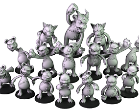 3D printable model Killer teddy Bears Team