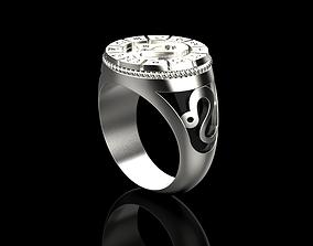 Zodiac ring LEO 3D print model