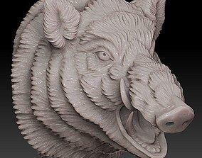 Boar head 3D printable model