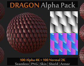 100 Alpha and Normal for Brush on Skin-Shield 3D asset 1