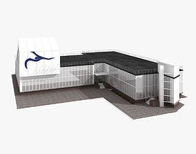 3D Sport Swimming School Building