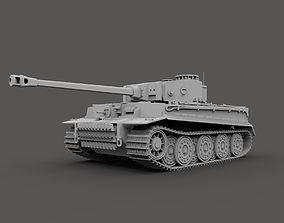 3D German Tiger Tank Mark 1 WW2