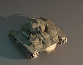 3D Steampunk tank of the First World War