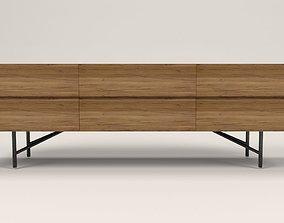 3D model Lora 6 drawers TV cabinet