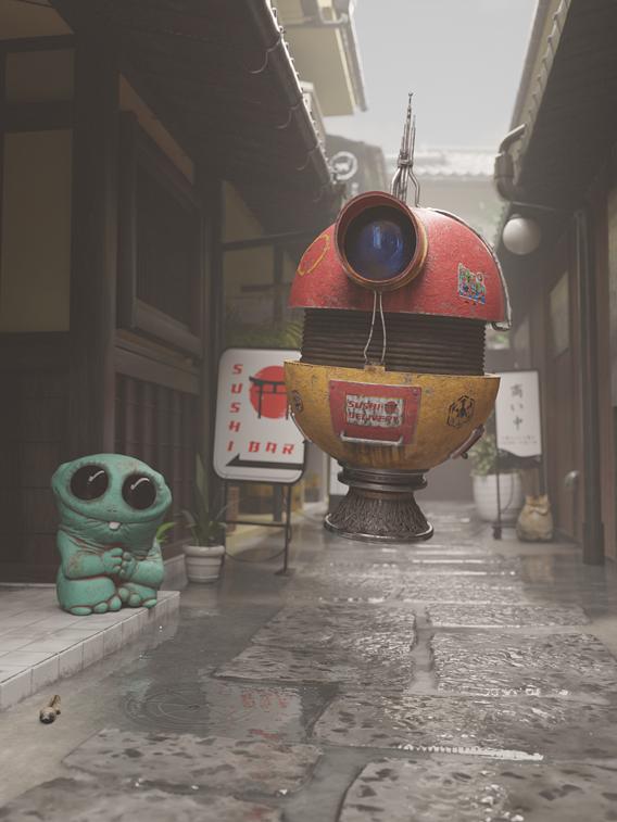 Japan old alley