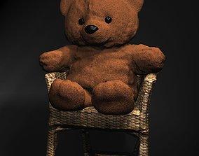 Teddy Bear on chair 3D