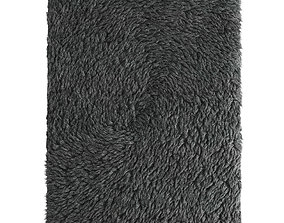 Tibetan rug with long fur 3D