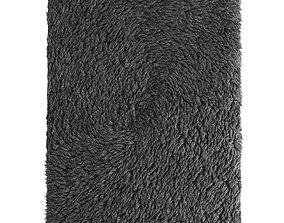 Tibetan rug with long fur 3D