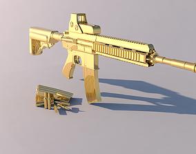 Golden Weapon - HK 416 3D model
