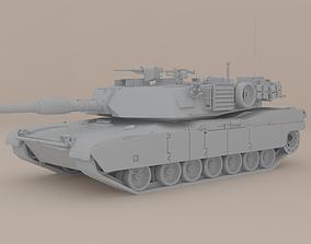M1A1 Abrams 3D model realtime
