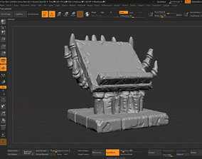 Bookstand of the damned 3D model