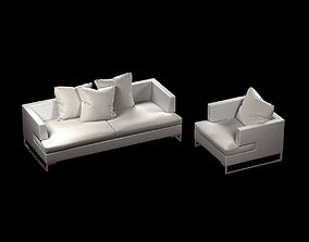 3D model emu luxor sofa and chair