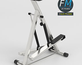 3D model Gym equipment stepper glute machine
