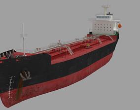 Oil Tanker Ship Lowpoly 3D