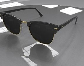 3D model Ray Ban Clubmaster Glasses