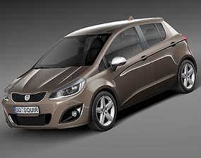 3D model Generic Hatchback 5-door 2016